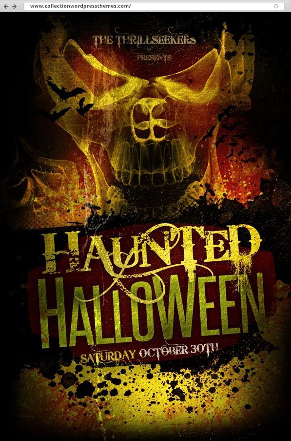 Free Halloween Flyer Templates (Dengan gambar)
