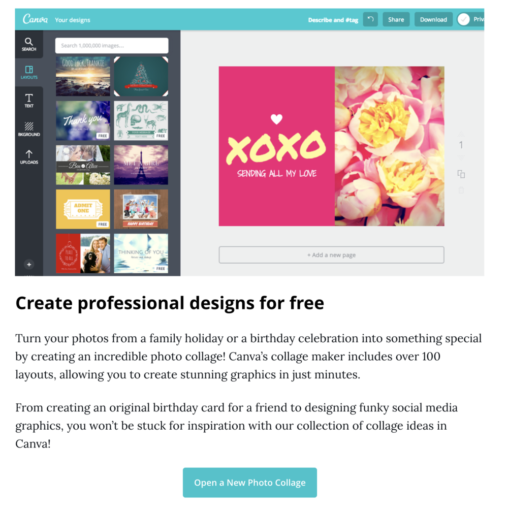 How to create a quick and easy photo collage using Canva