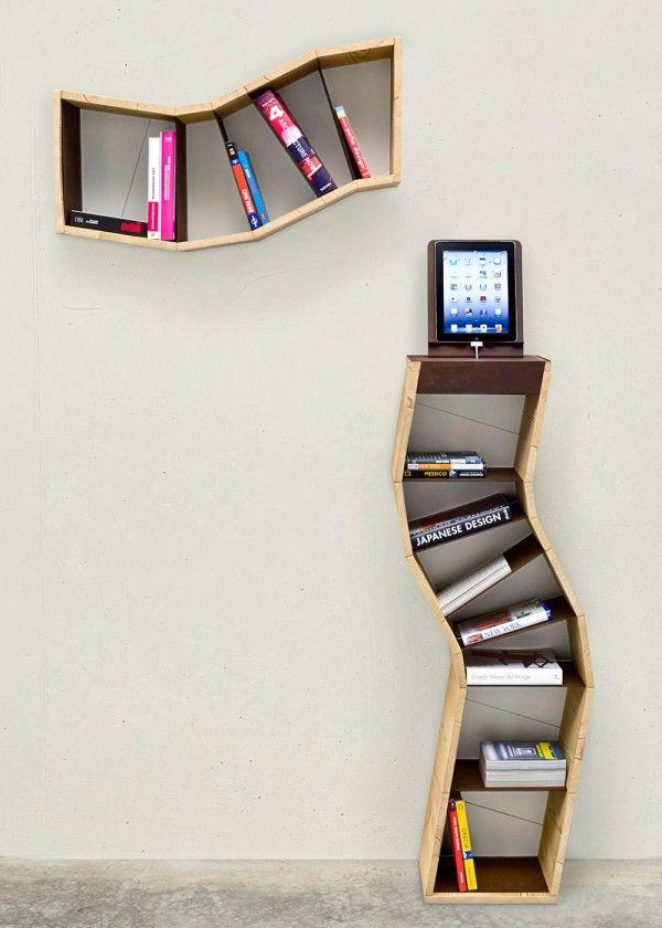 Creative bookshelves modern modular fascinating leicht krümmelig
