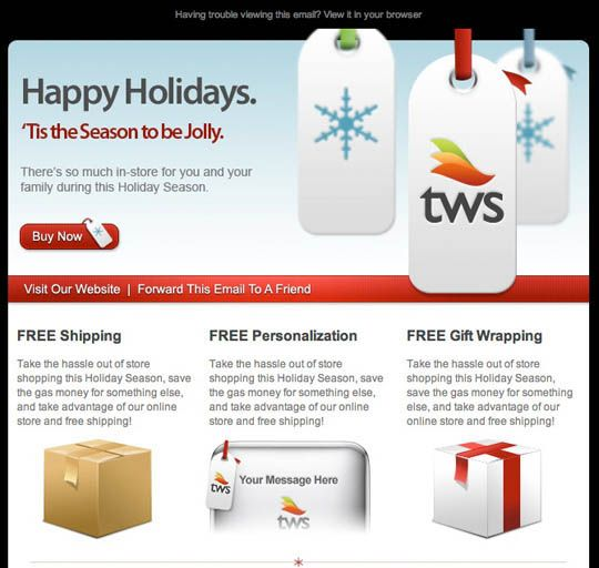17 Beautifully Designed Christmas Email Templates For Marketing Your Products Christmas Marketing Email Template Design Email Templates