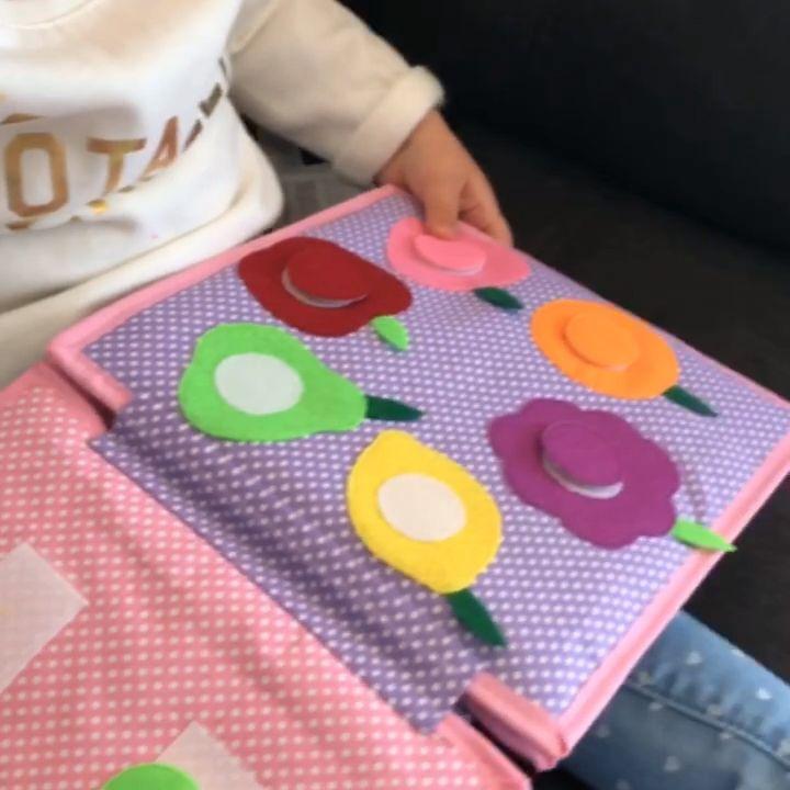 Custom Quiet book, custom activity book, personalized Quiet book  #felting