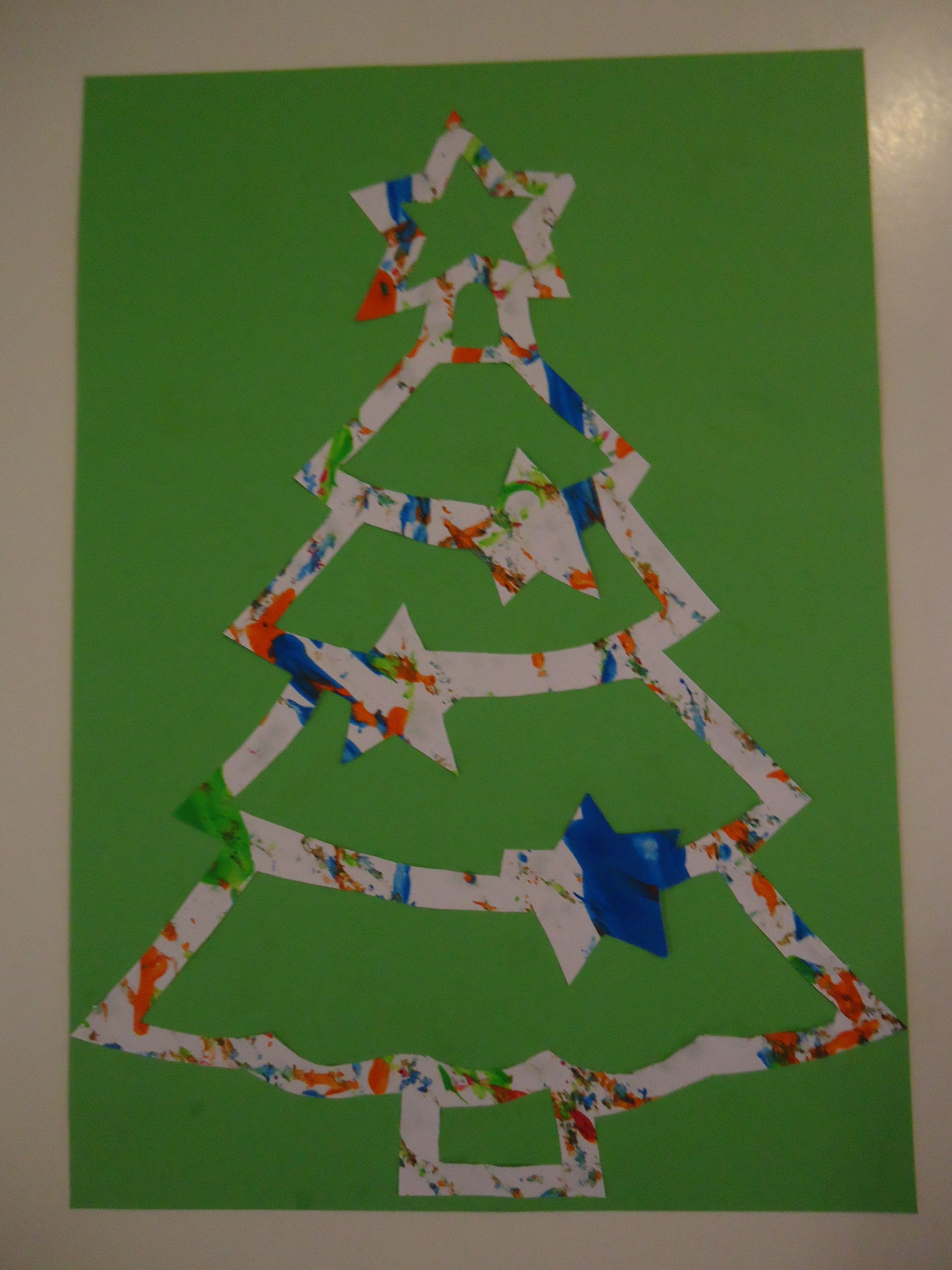 Kerstboom Kerstkaart Kerst Knutselen Kerstkaart Knutselen Kerst Kaarten