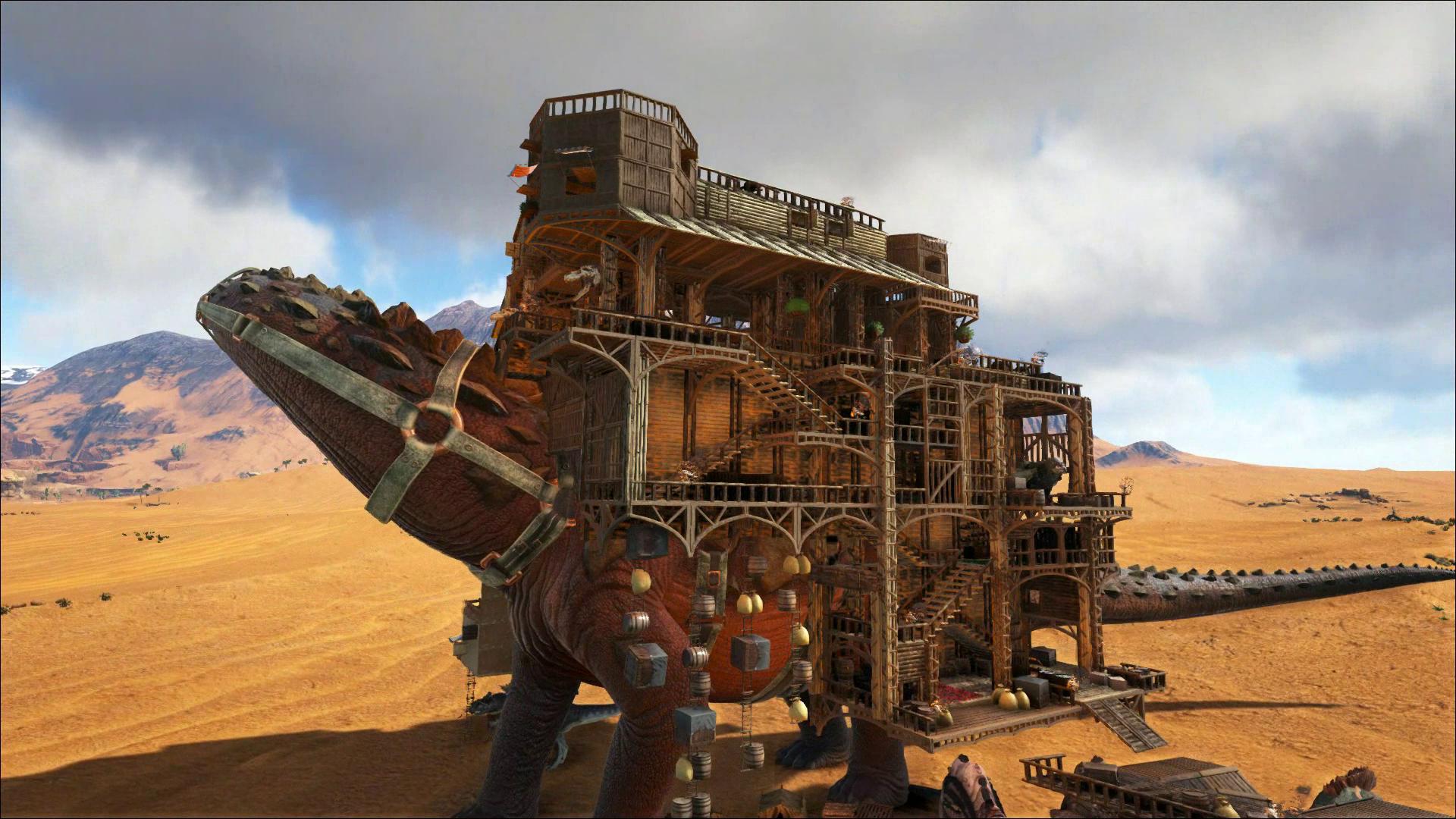 Marvelous Ark, Titan Platform, Nomadic Base Design, The Desert Trader. Massive  Platform Base