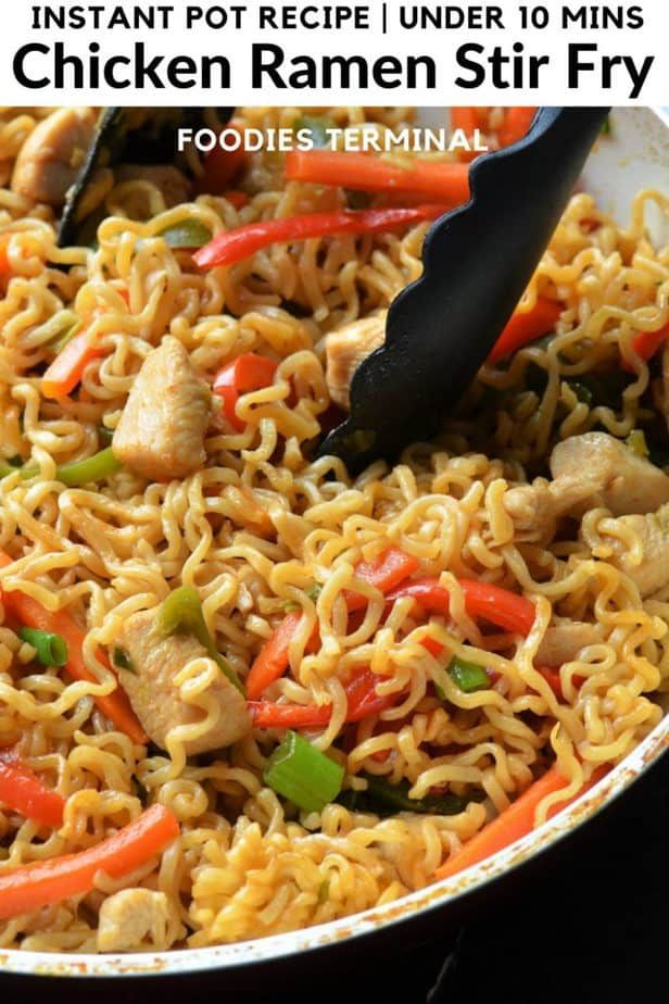 Make this Super Quick Chicken Ramen Stir Fry in your Instant Pot under 10 mins. This is the best ever Instant Pot Ramen Stir Fry to satisfy your ramen cravings. Kids favorite ramen stir fry. For such easy recipes follow my blog @foodiesterminal.com #ramenstirfry #instantpotchickenramen #instantpotnoodles #instantpotramenstirfry #maruchanramennoodles #ramennoodlesrecipe #instantramen #noodles #stirfrynoodles #frugaldinner #cheapmeals #foodiesterminal