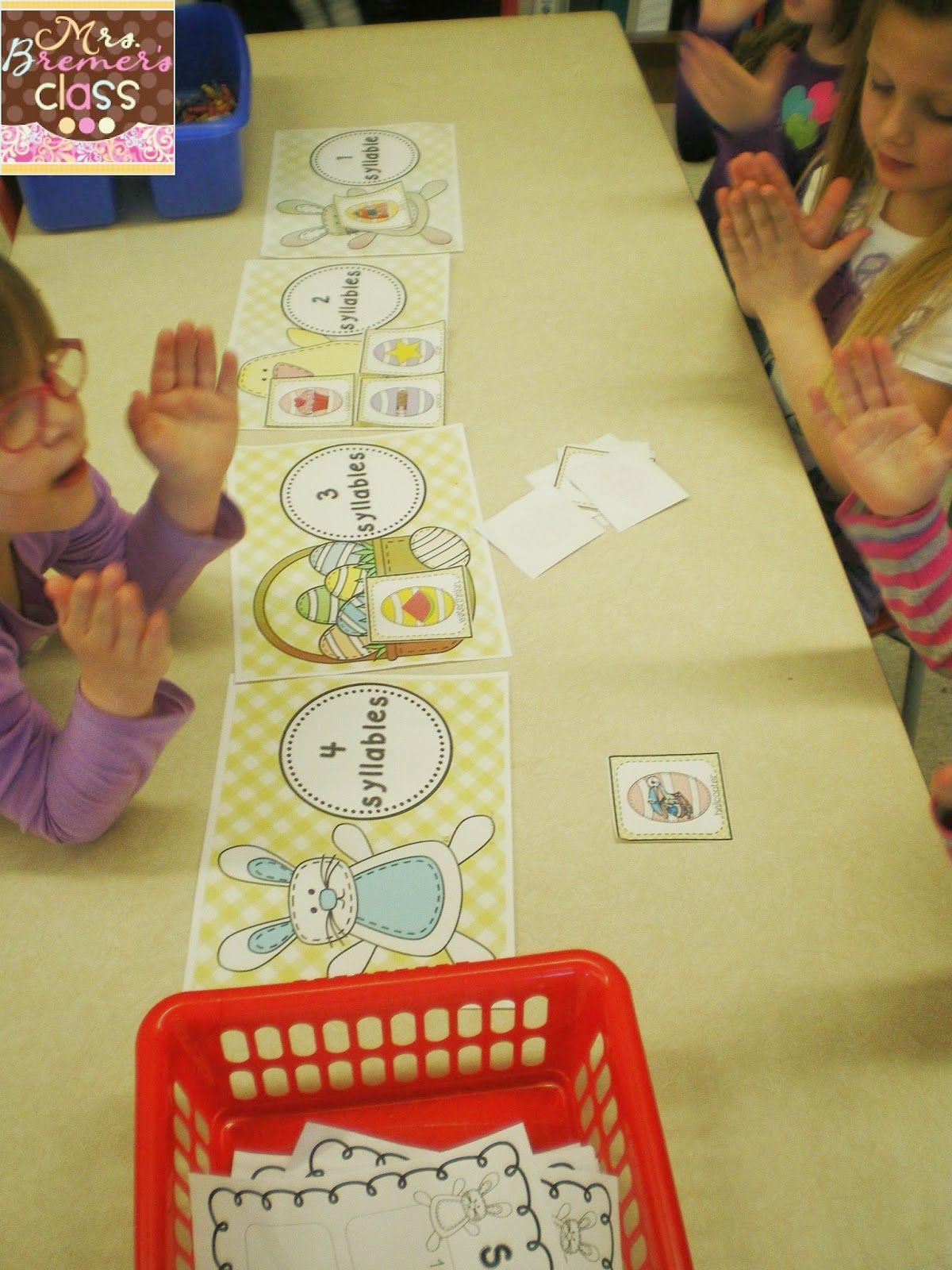 Easter Syllable Sort Kindergarten