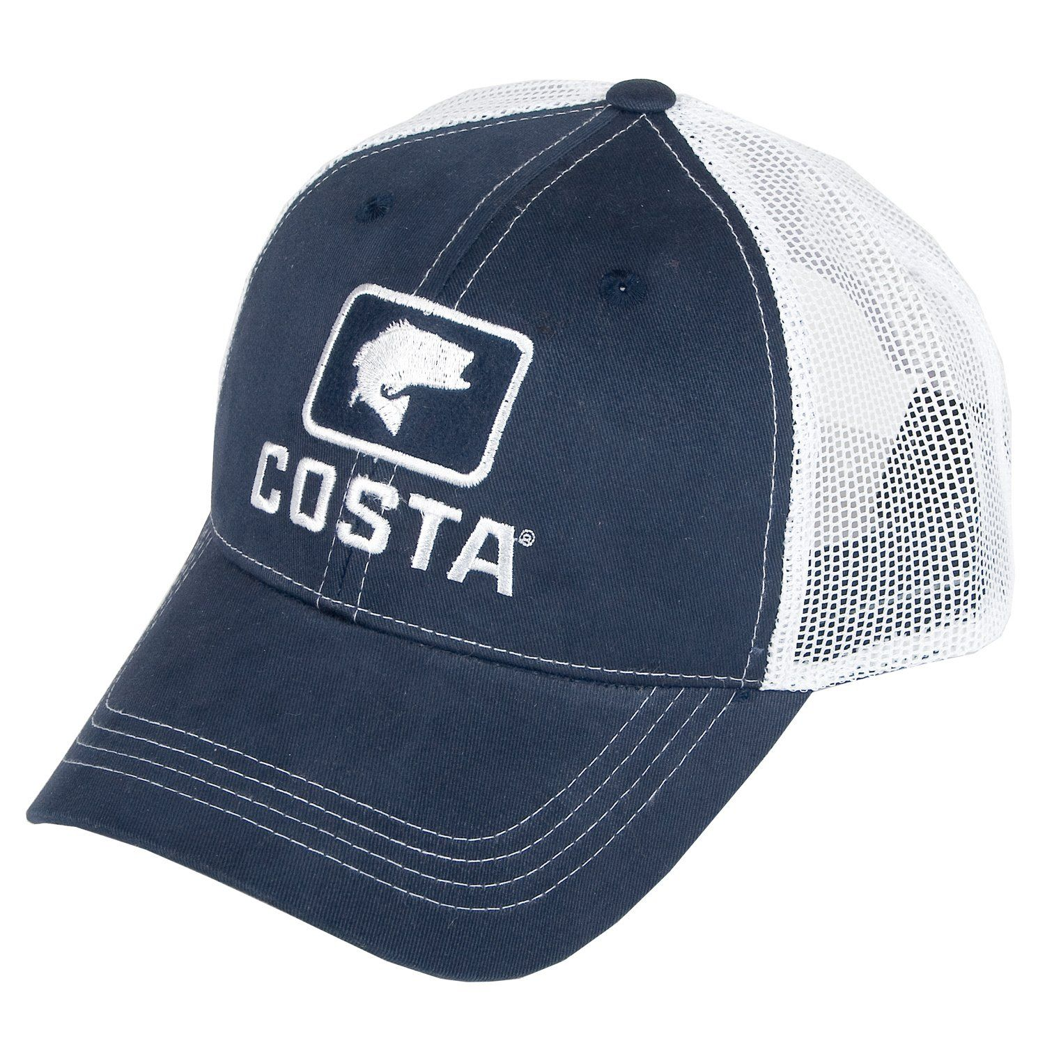 Mens Costa Del Mar Bass XL Trucker Navy White One Size  1d9dd7cae00c
