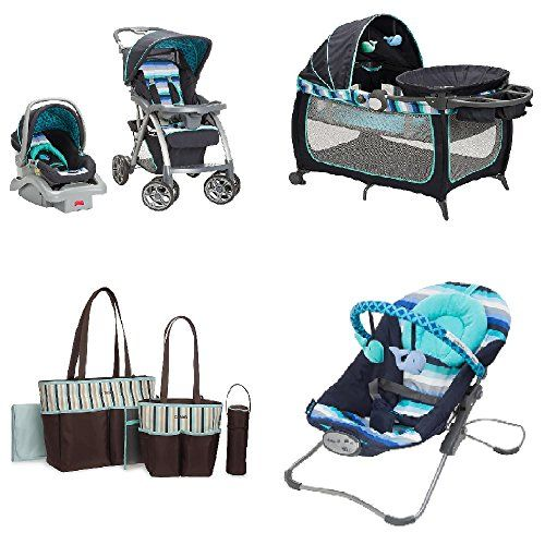 Baby Carseat Stroller Bundle Travel SystemPlay Yard Swing Diaper Bag