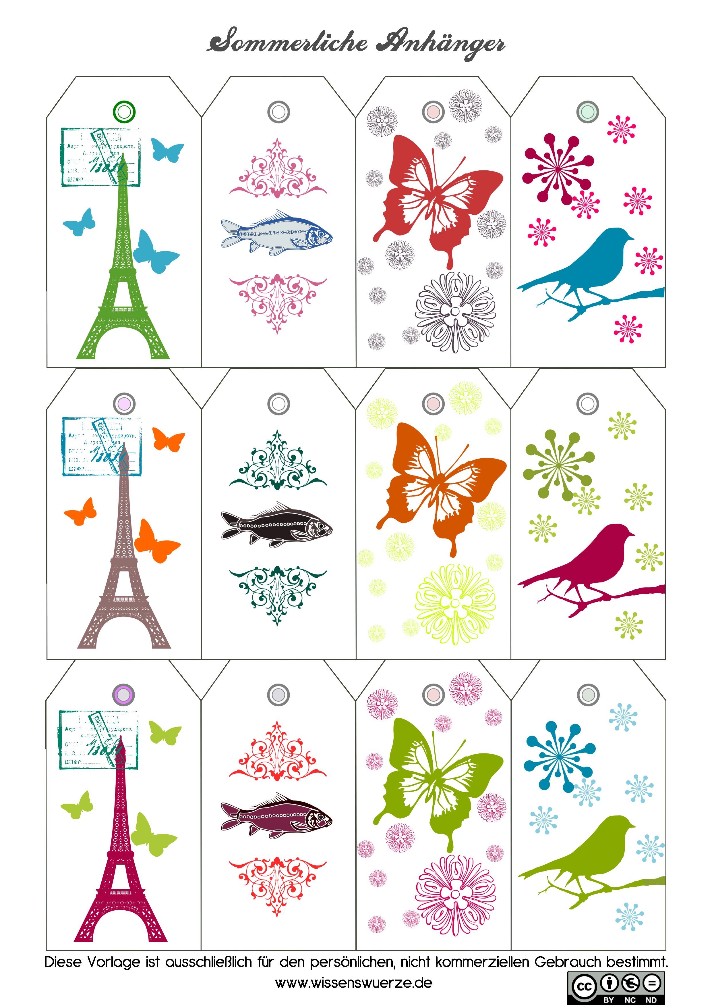 Sommerliche Geschenkanhänger   Free printables, Scrap and Printable ...