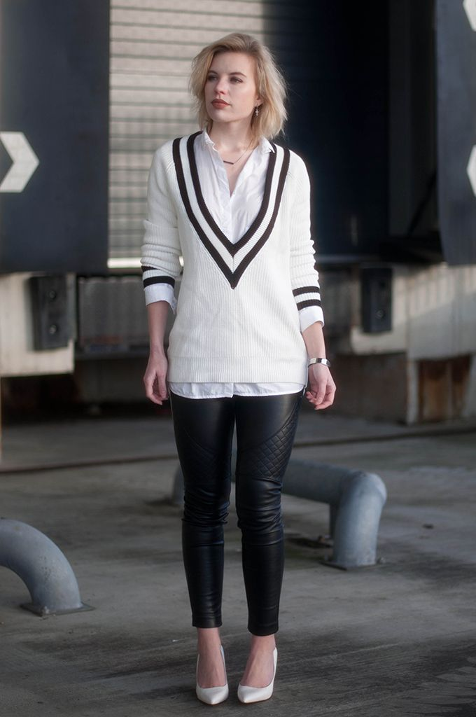1e593263ac 15 Killer Ways to Pull Off a Deep V-Neck Sweater |