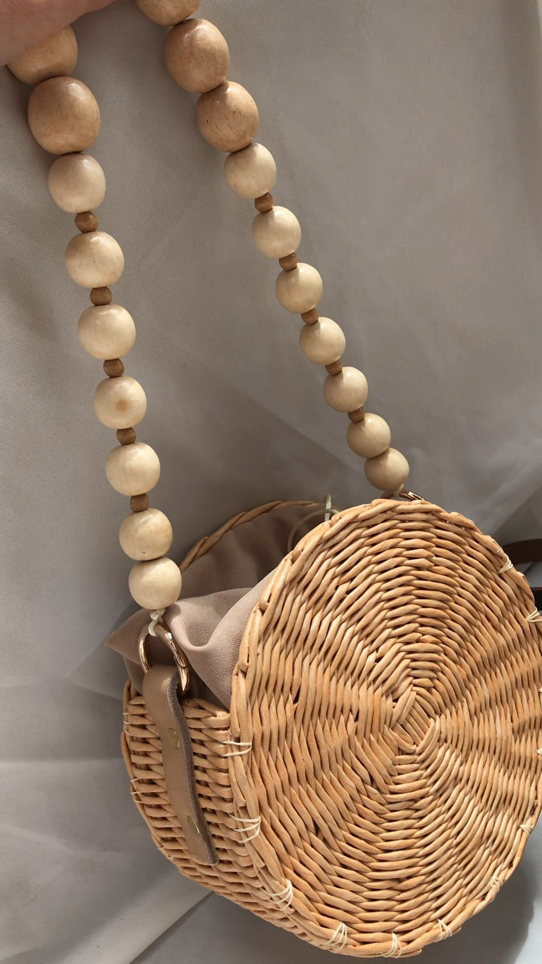 Photo of Round wicker bag