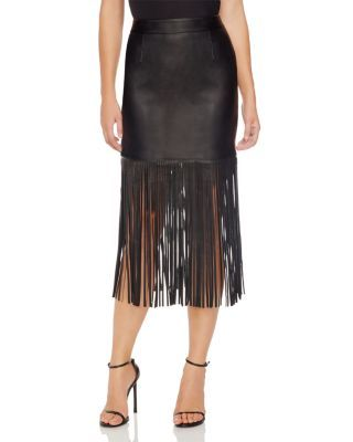 Chelsea & Theodore Fringe Trim Skirt - Compare at $98 | Bloomingdale's