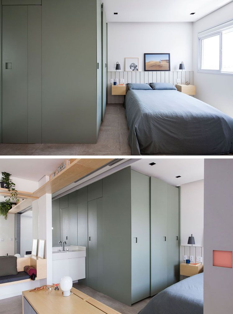 Améliorer un studio de 40 m² grâce à une cloison mobile ...