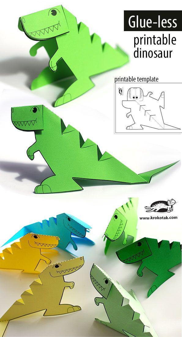 Glue Lee Printable Dinosaur Dinosaur Crafts Dinosaur Template Crafts For Kids
