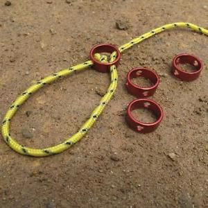 10 Red Aluminum Alloy Tent Awning Cord Rope Fastener Guy Line Runners Tensioners