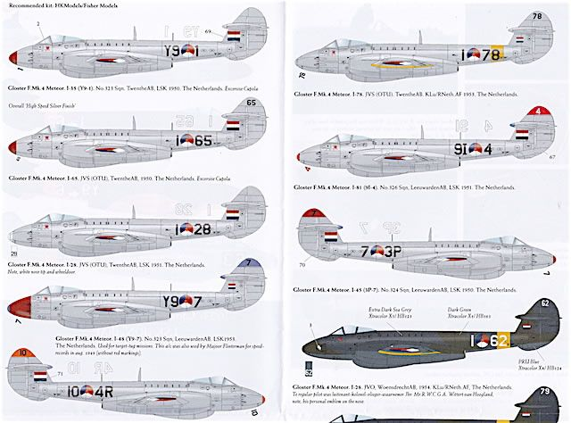 Dutch Decal 32023 - Gloster F.MK.4/T.Mk.7 Meteor LSK (R) NethAF Review by Brad…