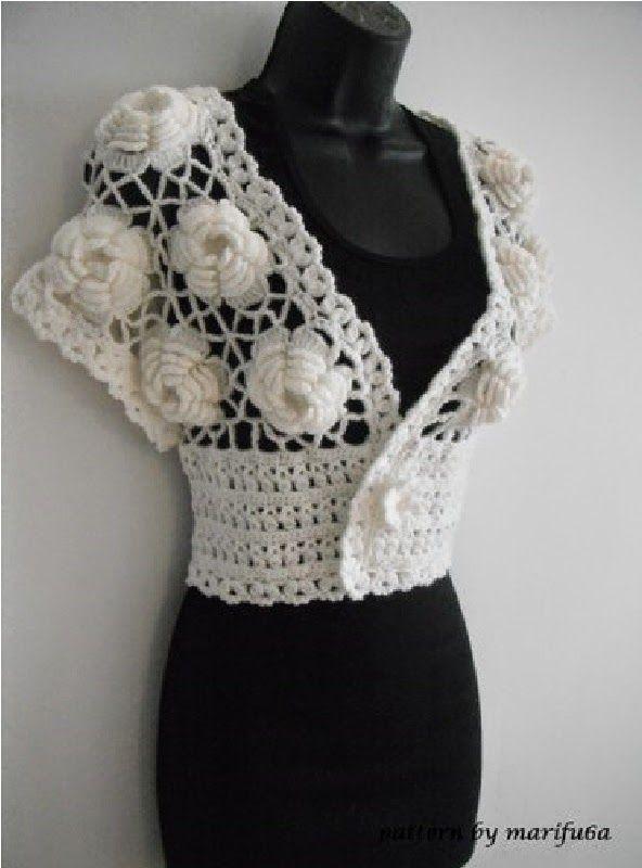 crochet video tutorials and patterns: how to crochet wedding shrug ...