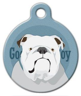 Good Boy English Bulldog Custom Pet Id Tag For Dogs And Cats Dog
