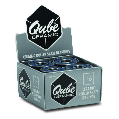 Sure Grip Qube 8 Ball 8mm Roller Skate Bearings Pack of 16