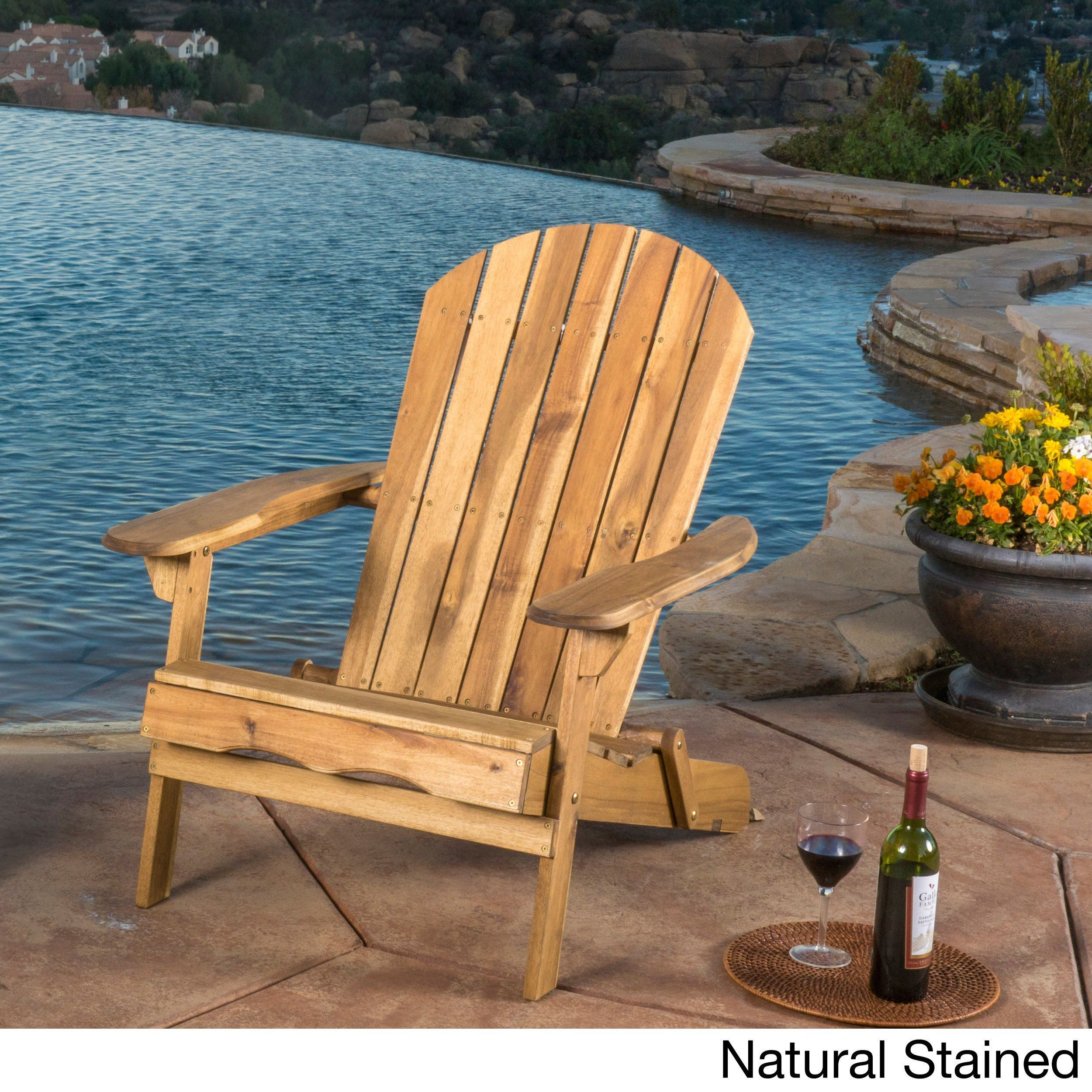 Adirondack Chair Sedie Da Giardino.Hanlee Outdoor Folding Wood Adirondack Chair By Christopher