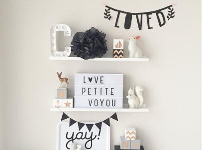 Baby Slaapkamer Decoratie : Wandplankjes voor de baby en kinderkamer