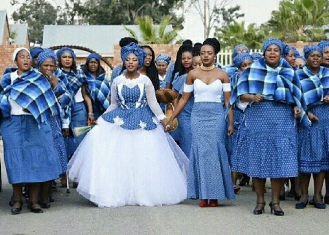 Bluetiful shweshwe bridal procession