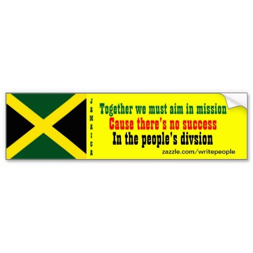 Peoples unity jamaica bumper stickers