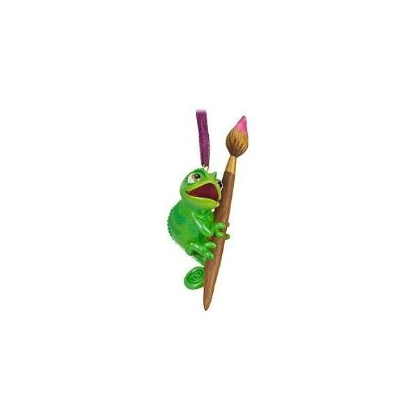 Disney Tangled Pascal Ornament ($13) ❤ liked on Polyvore featuring home, home decor, holiday decorations, disney holiday decor, disney ornaments, disney, disney home decor and disney holiday decorations