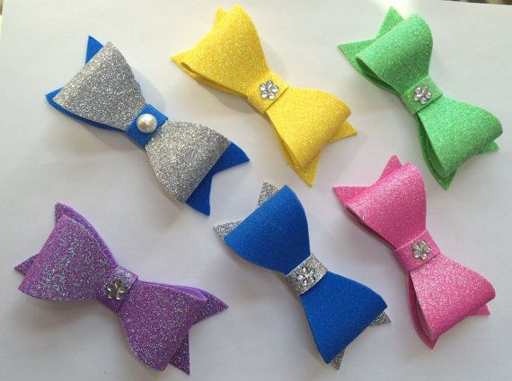 Sparkly foam bows sparkly bow elegant hairbow blue by HNHBowDazzle ...