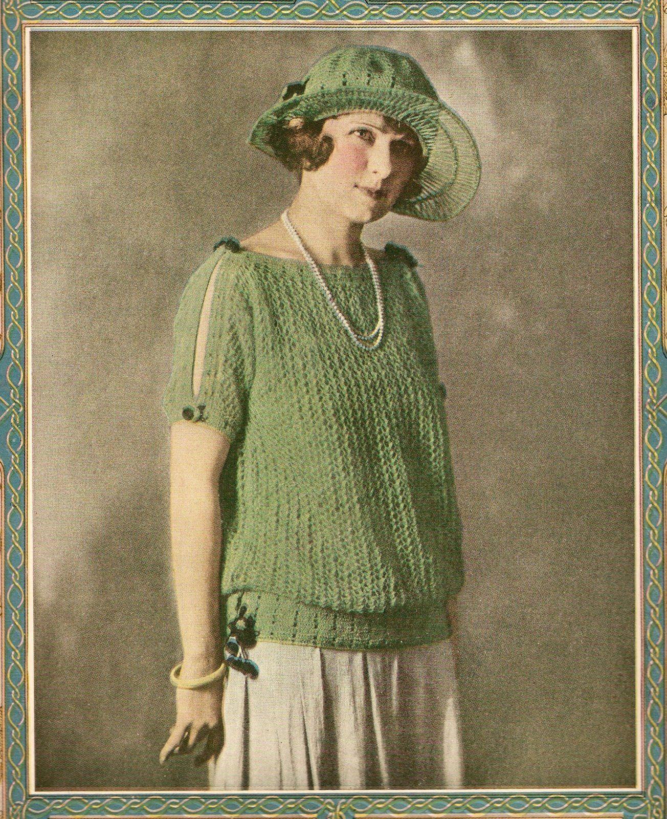The Vintage Pattern Files: 1920\'s Knitting - A Summer Sweater   örgü ...