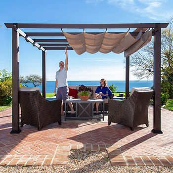 Samanta 22 Awesome Pergola Patio Ideas In 2020 Outdoor Pergola Aluminum Pergola Backyard Patio Designs