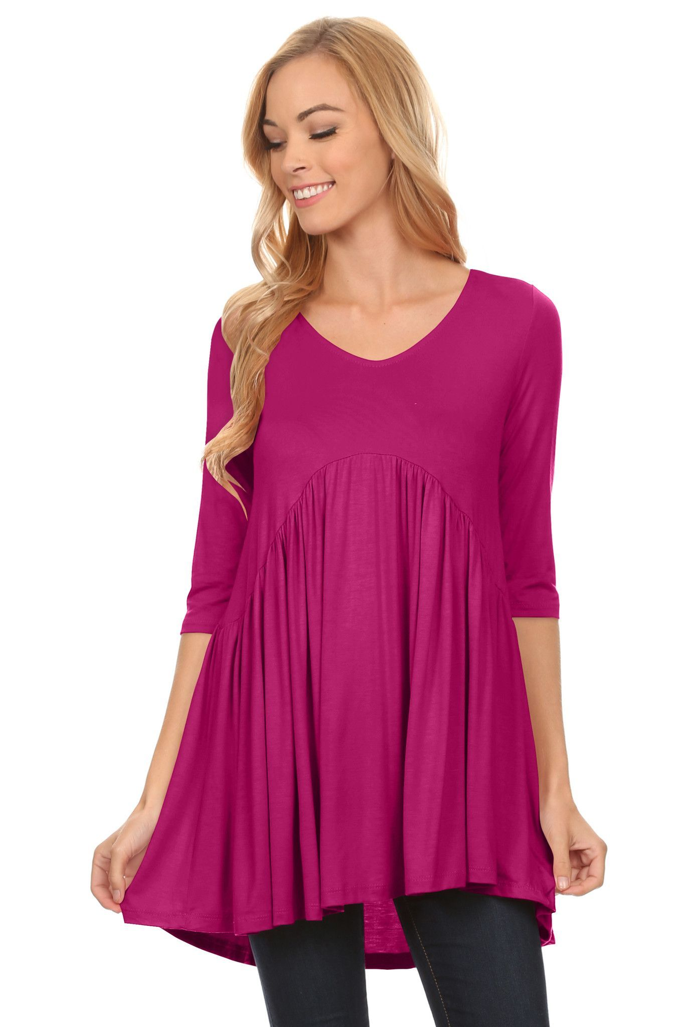 2ed2fb7a50 COMFORT - These Mini Dress Tunics for Women is composed of 95% Rayon