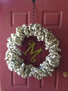 from my nest to yours.....: Chevron burlap wreath