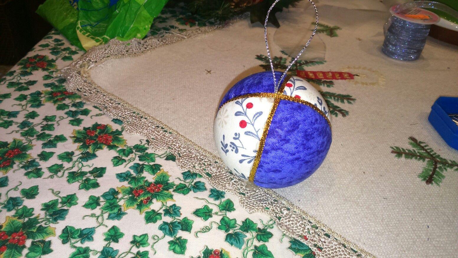 Bola navidad falso patchwork