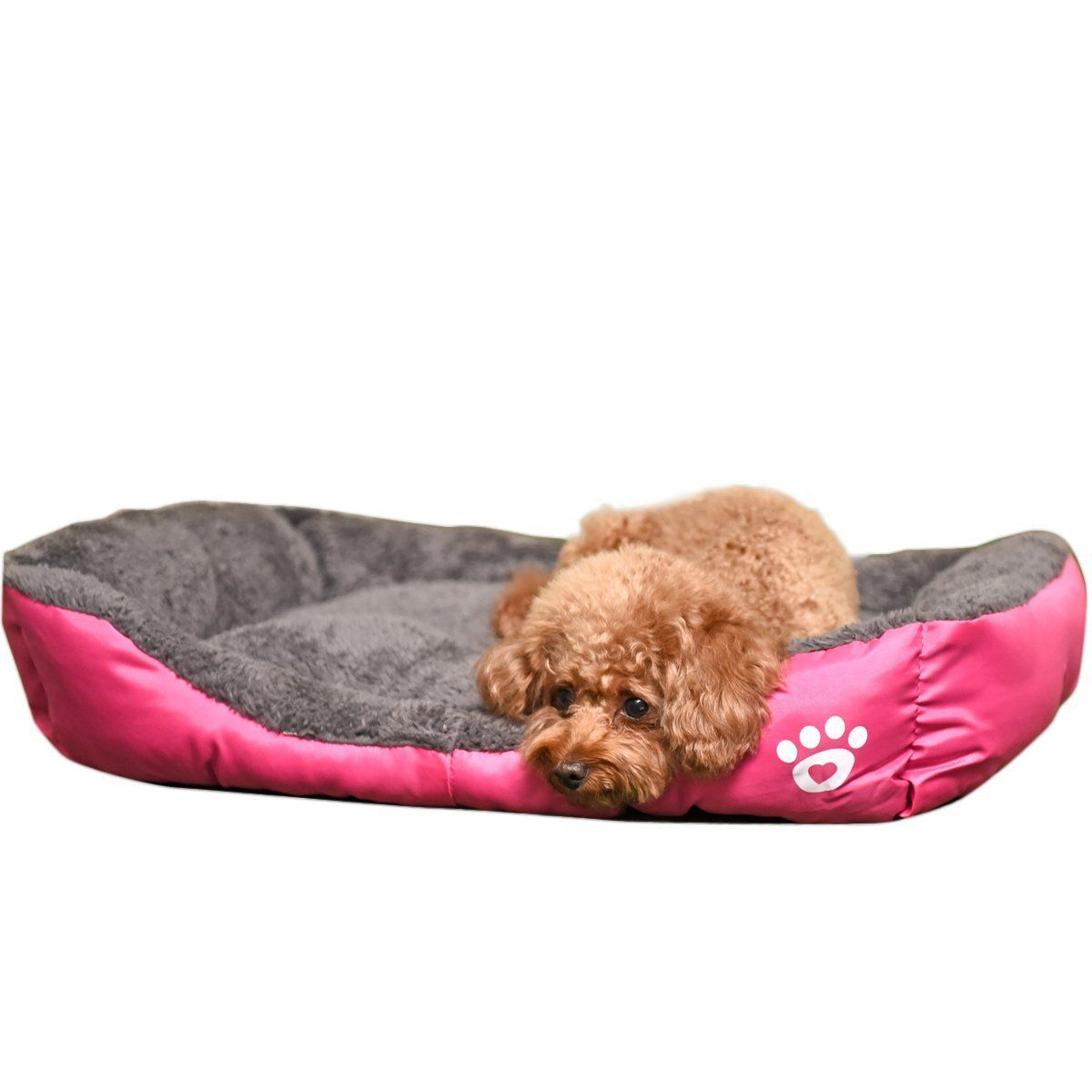 Pawz Road Pet Dog Bed Colorful Rainbow Design Oxford Fabric