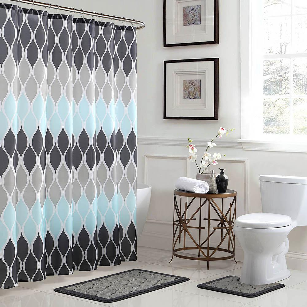 Clarisse geometric in x in bath rug and in x in