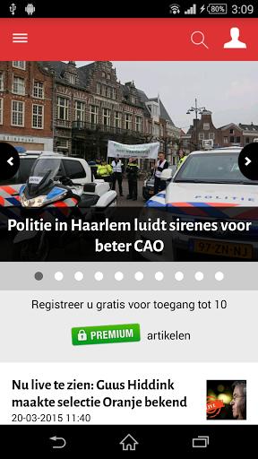 Lees altijd en overal het laatste nieuws met deze officiële app van Haarlems Dagblad. Blijf 24 uur per dag op de hoogte van gebeurtenissen en ontwikkelingen in uw eigen regio, binnenland en buitenland. Ook sport- en entertainmentnieuws vindt u hier.<p>Basis en Premium<br>In de app vindt u basis- en premium artikelen. De basisartikelen leest u gratis. Om premium artikelen te kunnen lezen, dient u zich eerst gratis te registreren. Dit kan via de app. Als geregistreerde bezoeker krijgt u gratis…