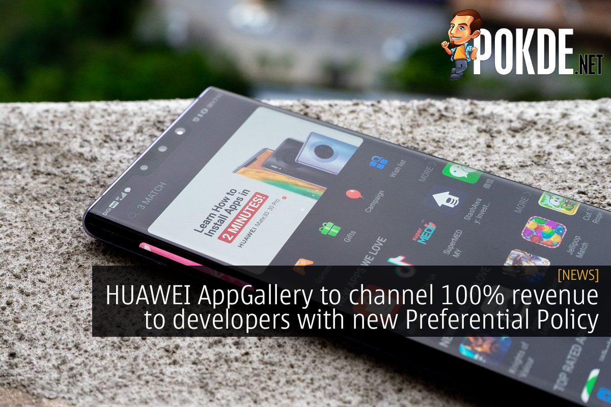 HUAWEI AppGallery To Channel 100 Revenue To Developers