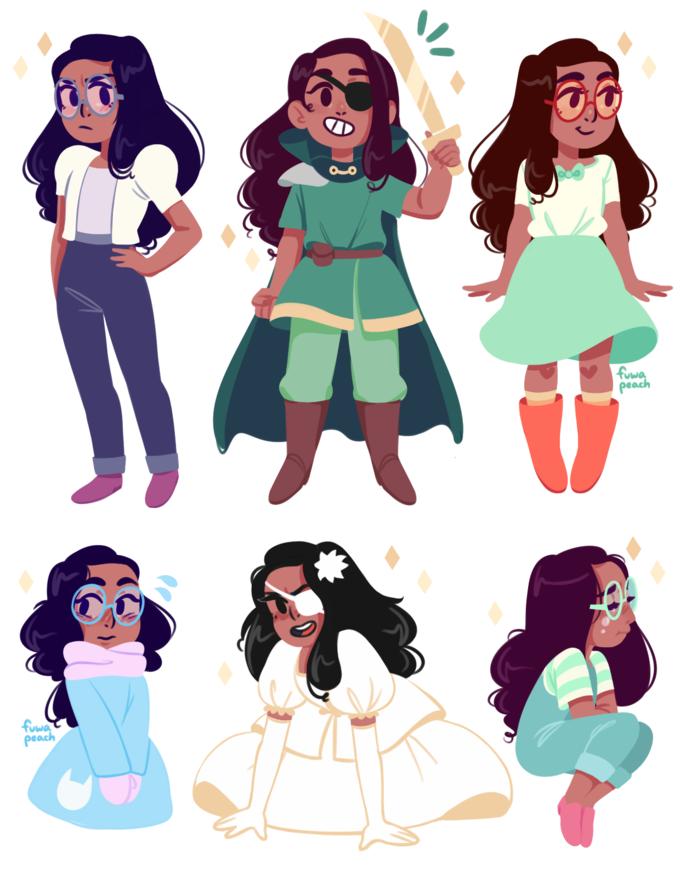 Connie's Outfits | Connie steven universe, Steven universe ...
