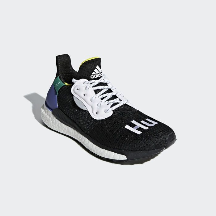 half off look out for cute Pharrell Williams x adidas Solar Hu Glide ST Shoes Core Black 8 ...