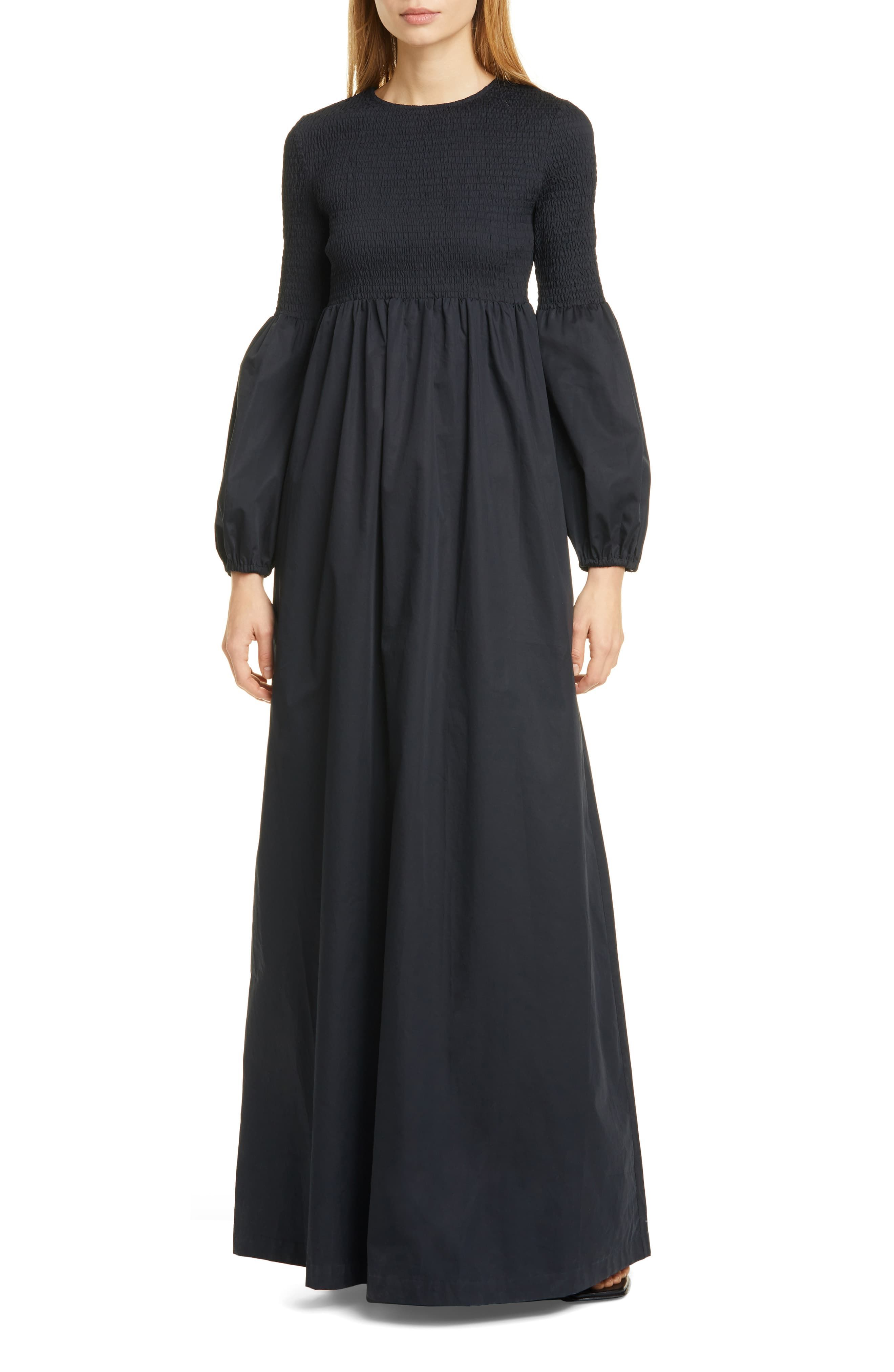 Rodebjer Sandy Smocked Bodice Long Sleeve Maxi Dress Available At Nordstrom Maxi Dress With Sleeves Long Sleeve Maxi Dress Silk Dress Long [ 4048 x 2640 Pixel ]