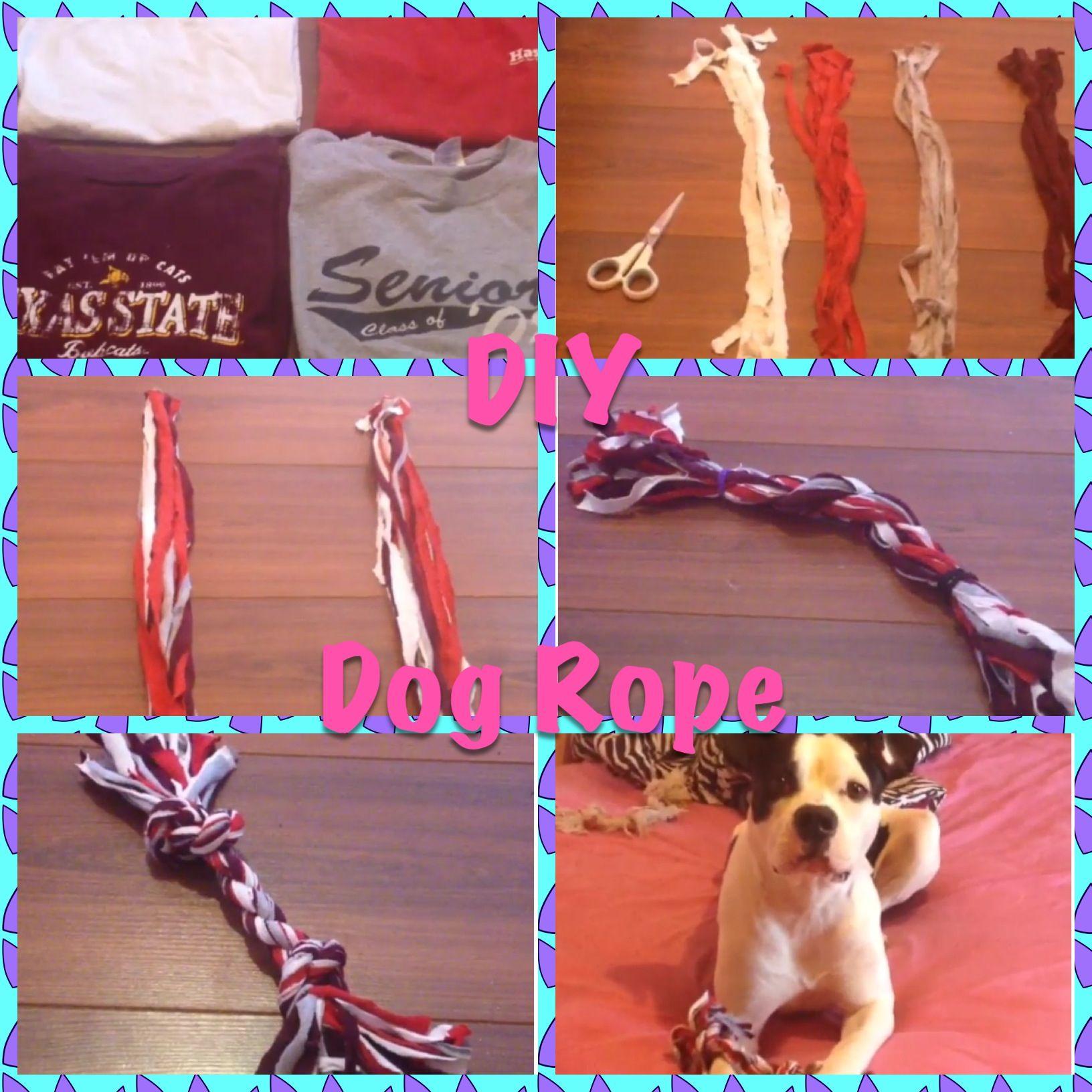 Diy Tshirt Dog Rope Toy Diy Dog Toys Diy Rope Toys For Dogs Diy Dog Stuff