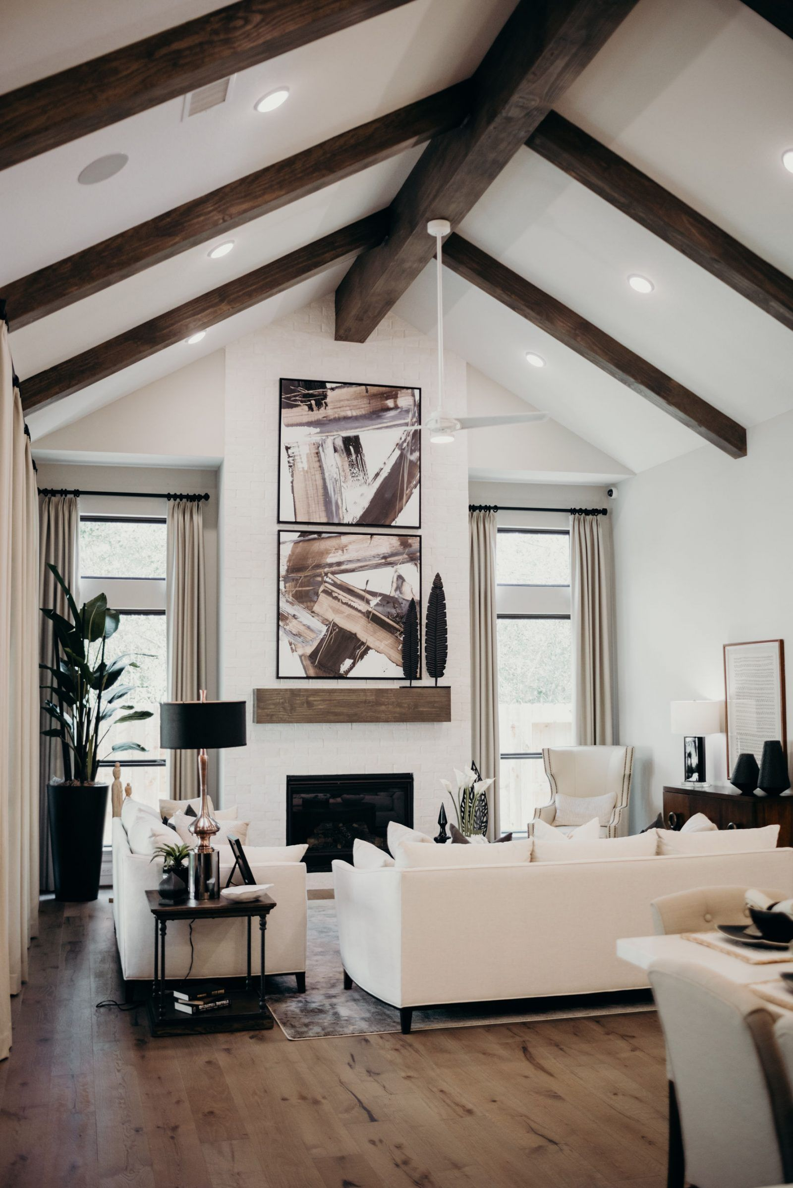 The Woodlands Hills Future Home Inspiration In 2020 Beams Living Room Trendy Living Rooms Living Room Designs
