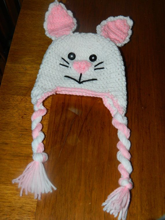 Bunny Rabbit hat Easter hat Bunny hat by IpsenCraftCreations