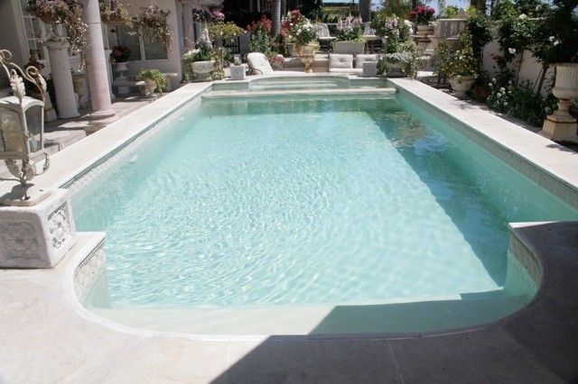 Beautiful shabby chic patio and pool!