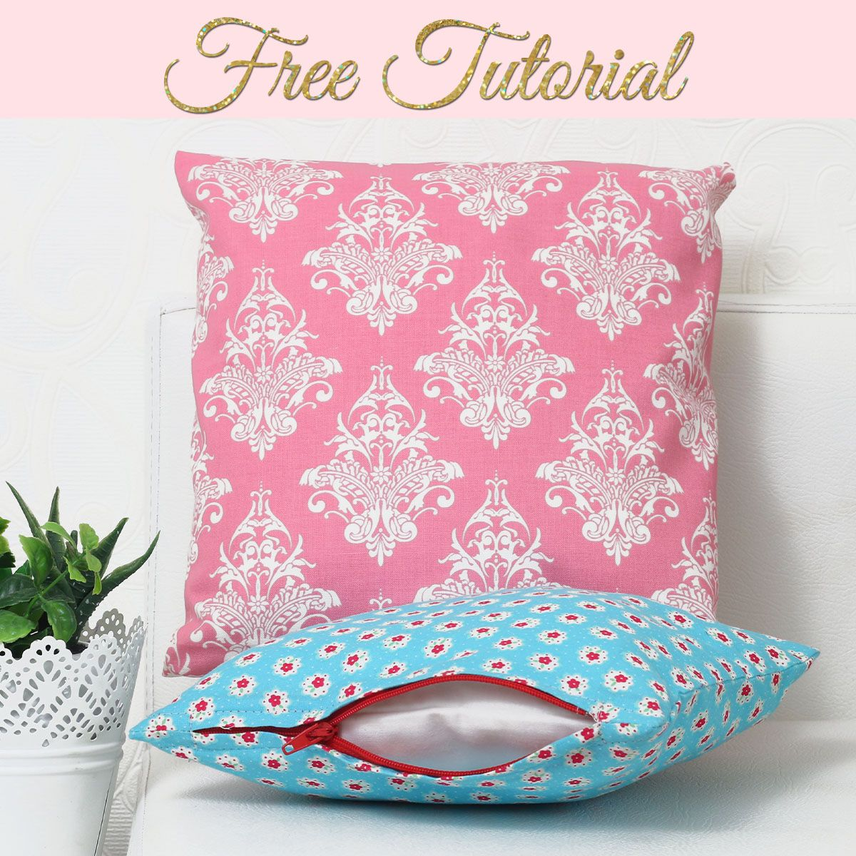 how to make an envelope cushion cover