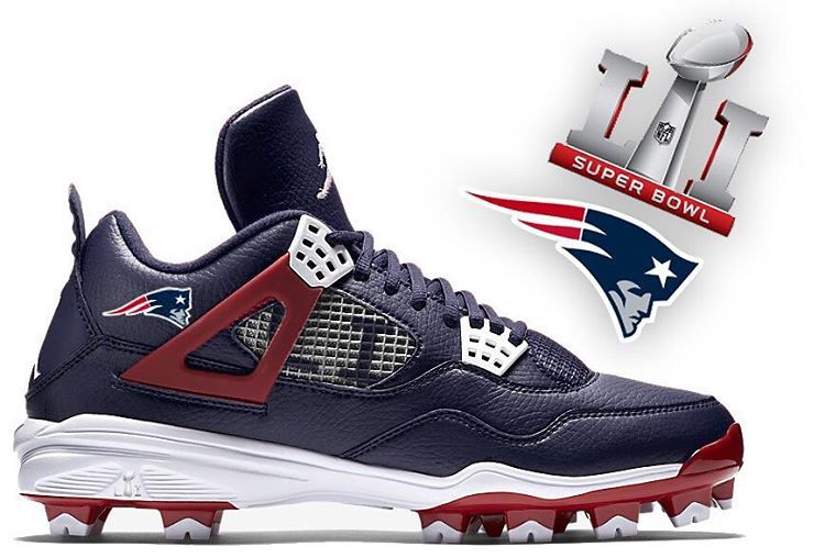 Jordan 4 Cleat x Patriots