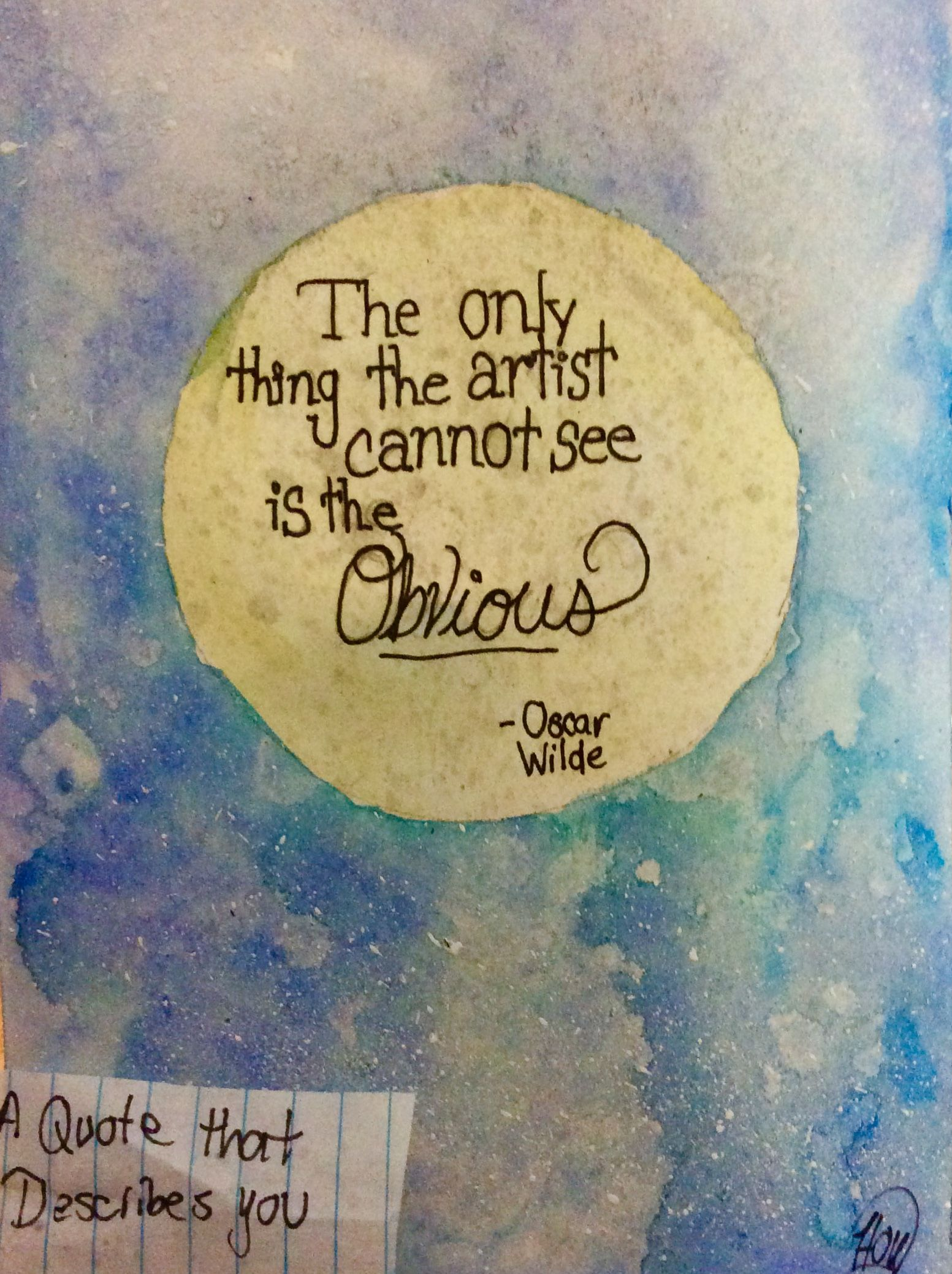 Pulled Out The Water Colors For This One When Thinking Of A Quote