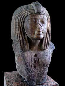 Le pharaon OsorkonI, XXIIè dynastie «Libyenne». Musée du Louvre.  (Histoire de l'Egypte ancienne)