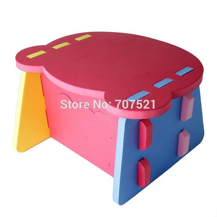 Foam EVA Learning Chair Baby Plastic Table Kids Furniture Soft Portable  Desk Children Dinner Tables For
