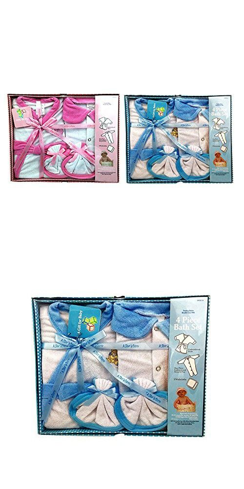 4 PCS BABY BATH SET FOR BOYS OR GIRLS 0/6 MONTHS (BLUE) | Baby ...